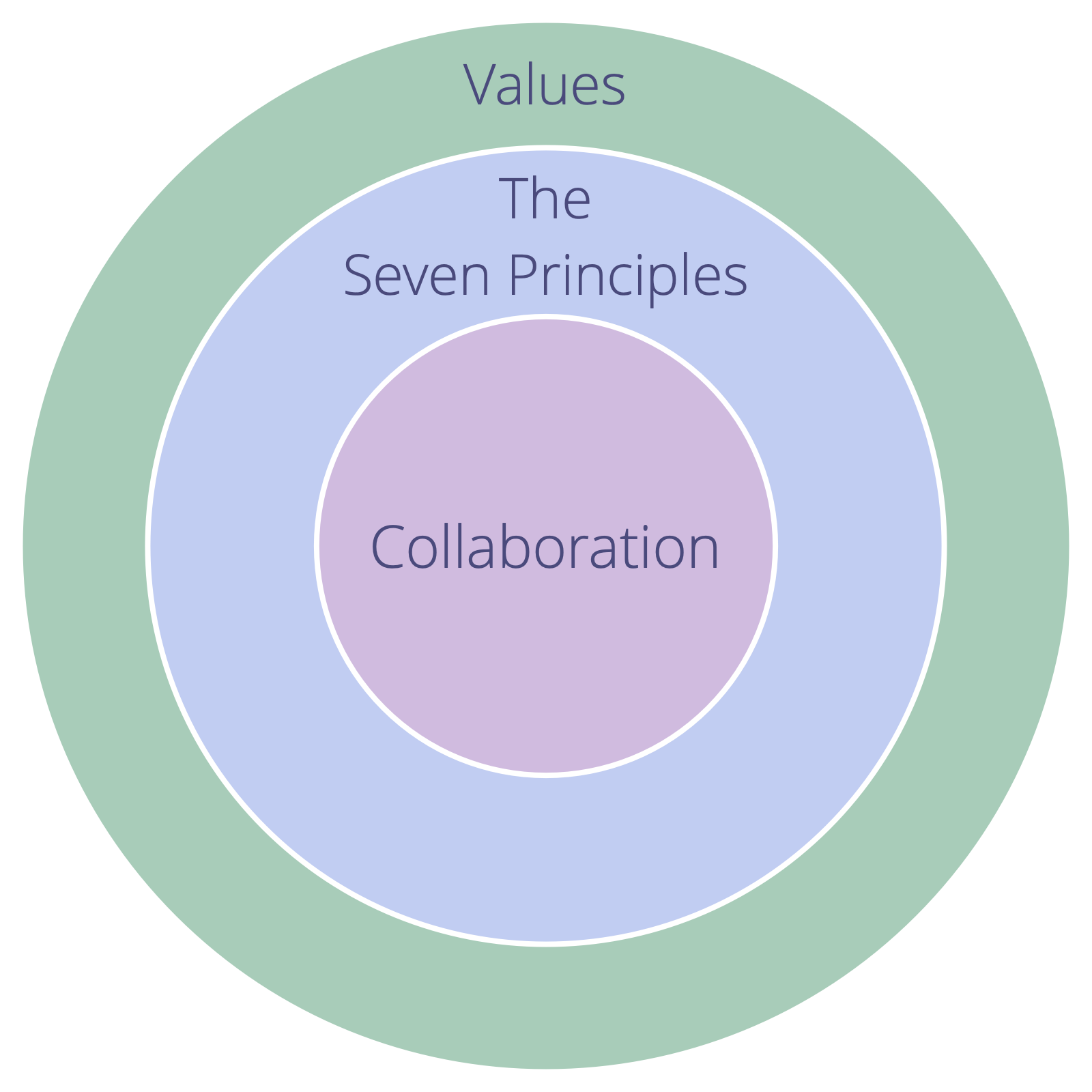 An organization's values need to embrace the Seven Principles