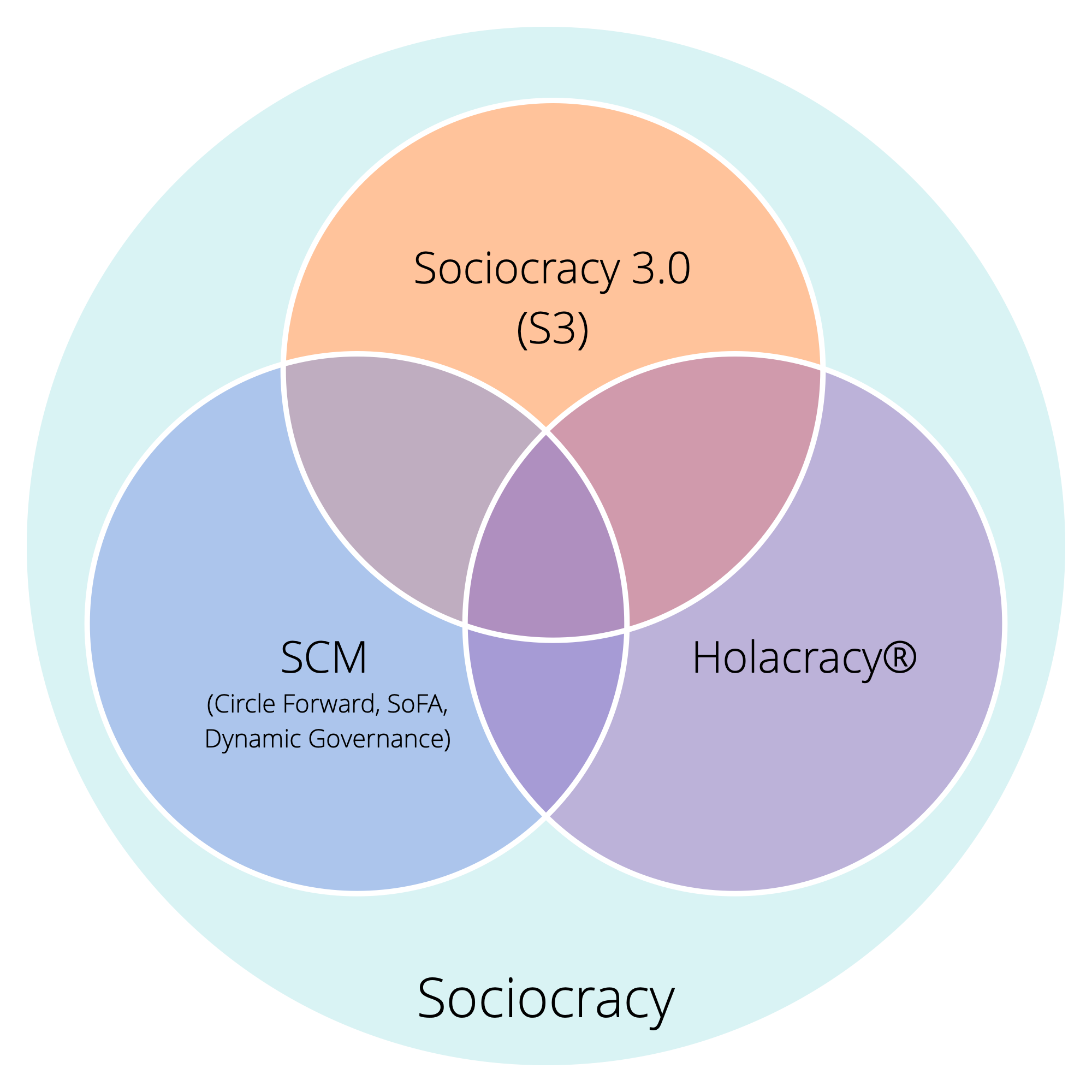 Three variants of sociocracy